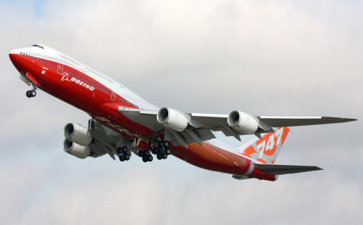 Boeing 747-8I wide-body airliner