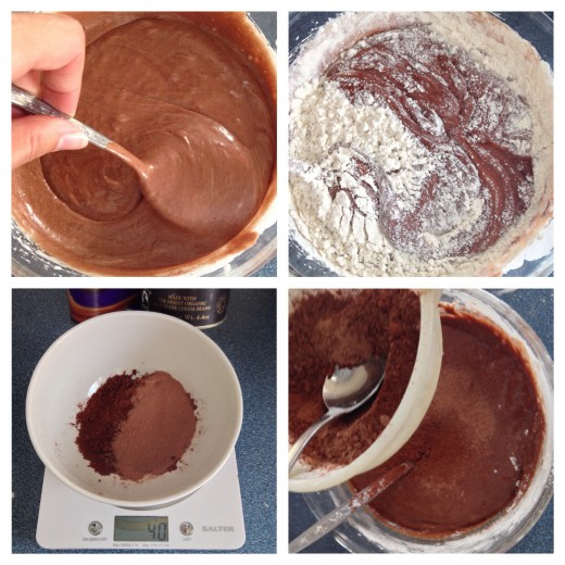 Adding the Flour and The Cocoa/Drinking Chocolate