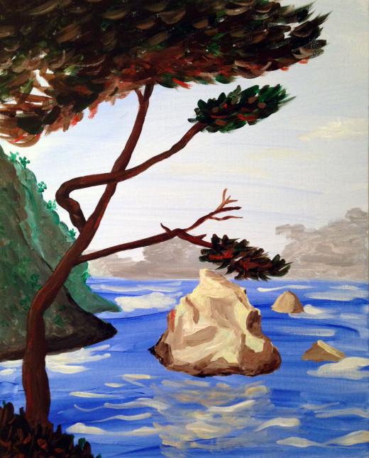 Custom painting Carmel landscape
