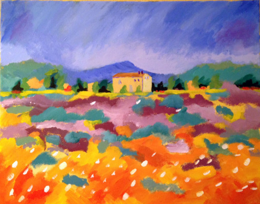 Monet inspired Napa landscape