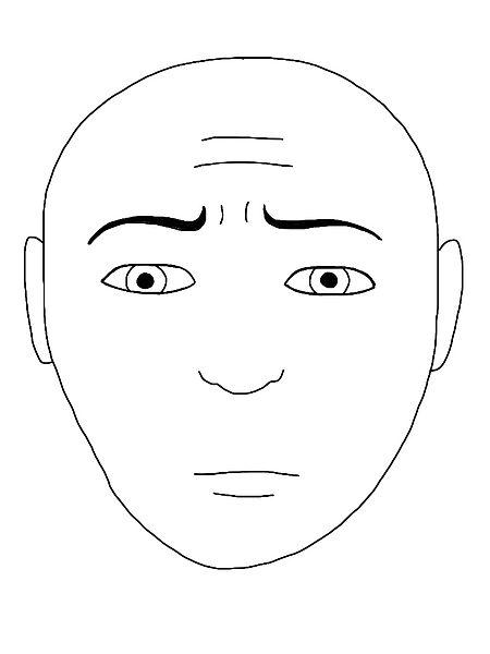 Uneasy face