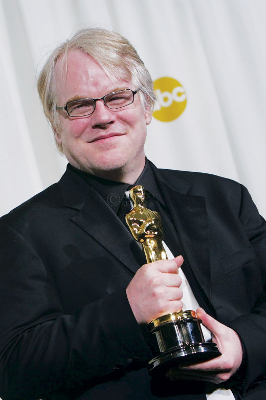 Philip Seymour Hoffman on Oscar night