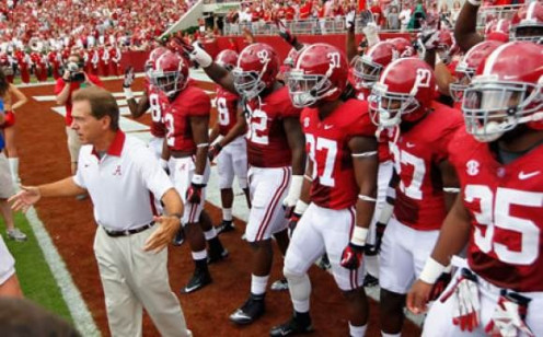 The Alabama Crimson Tide is one of the most successful college football teams of all time. They are known for their defensive skills on the field.