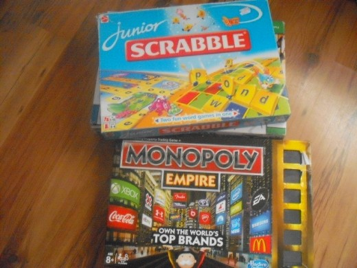 Reading whilst playing board games is still an excellent means to develop those reading and writing skills.