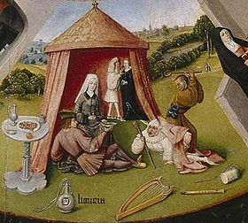 Luxuria (Lust), In The Seven Deadly Sins And  The Four Last Things, By Hieronymus Bosch.