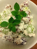 Potluck Favorite: Sweet and crunchy grape salad