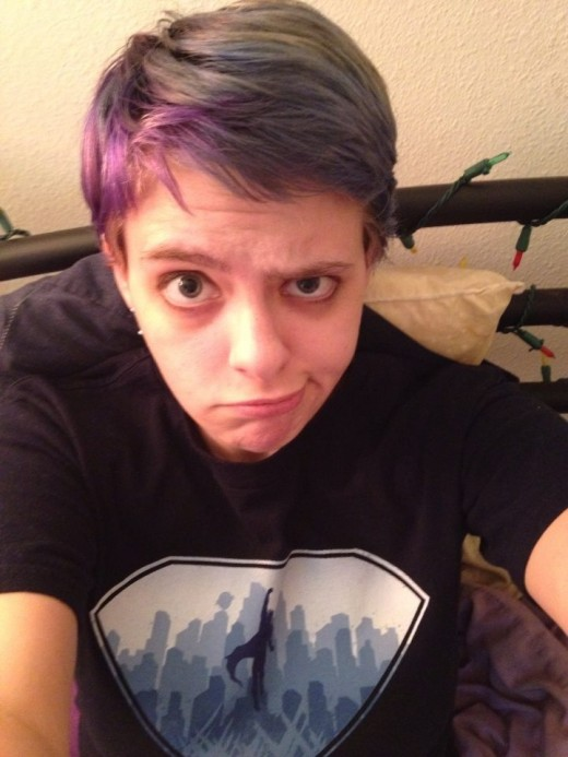 I started to like how I looked, and experimented with hair colors (but continued to wear dark shirts to hide any blood stains from picking).