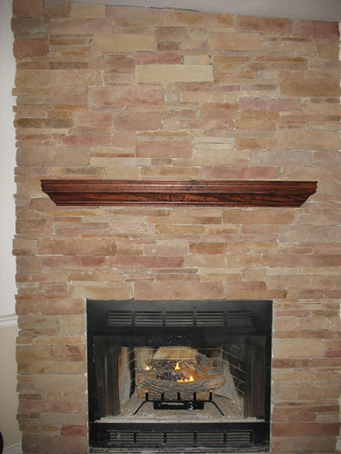 Light weight stone veneer looks great and is easier to install than actual stone.