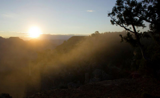 Even if you aren't an early bird, the sunrise and the sunset at the Grand Canyon are a site that can't be viewed anywhere else. In the morning, fog lifts from the 7,000 feet deep canyons to uncover expansive layers of rock that tell the tale of time.