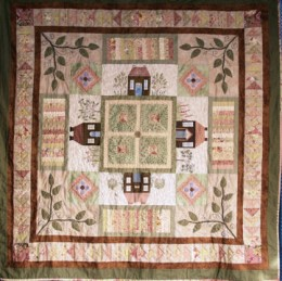 Cottages in Common block of the month quilt
