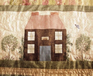 sample block from Cottages in Common block of the month quilt