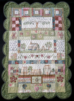 Kiss of the Sun block of the month quilt