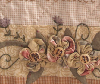 sample block from Garden of Dreams block of the month quilt