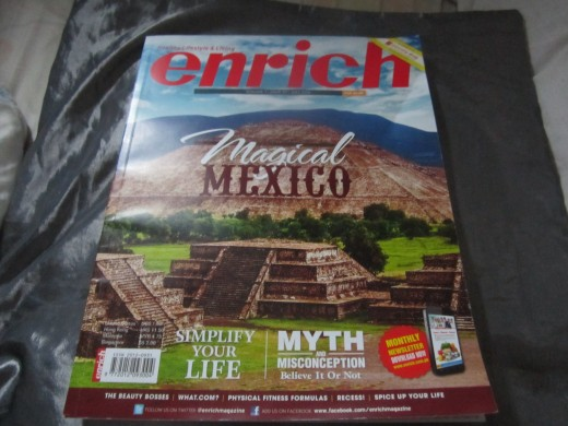 My article was published on the July, 2014 issue of Enrich Magazine