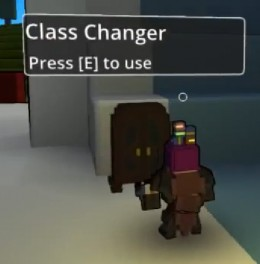 The Class Changer is what Allows you to Pick your Type of Character
