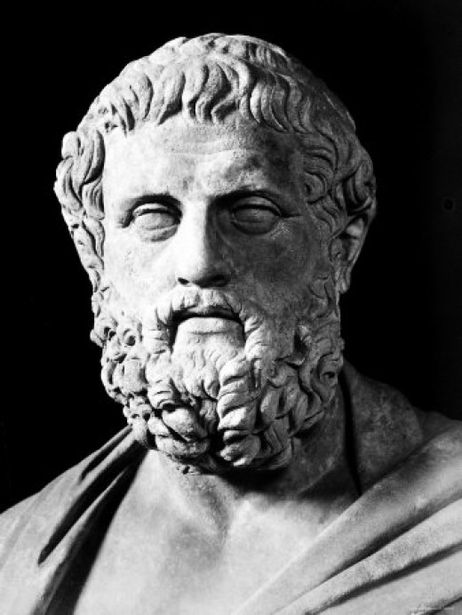 A stone bust of Sophocles