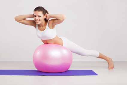 Lower Back Crunches on Stability Ball