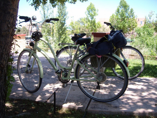 Here are our trusty bikes.