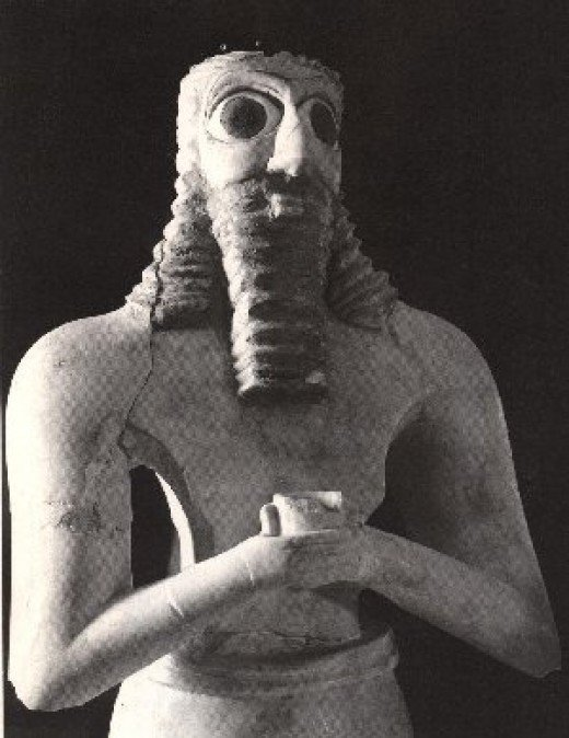 The ancient Sumerian god Anu does not have the features typically ascribed to visiting aliens today.