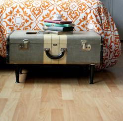 Vintage Suitcase End Table