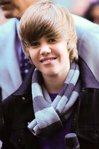 Justin Beiber in 2009 when he was first discovered.