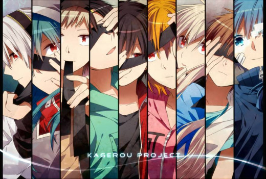 From left to right: Kido, Kano, Seto, Shintaro, Momo, Mary, Hibiya, Ene