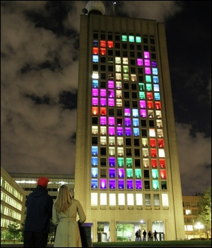 MIT Building Hack of Tetris