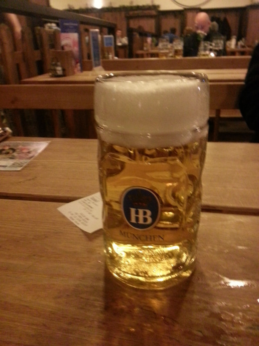 A fresh Weissbier at Hofbrauhaus Berlin