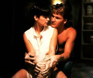 "Moore and Swayze in ""Ghost"""