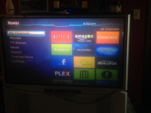 Roku delivers 32 + channels directly to your TV
