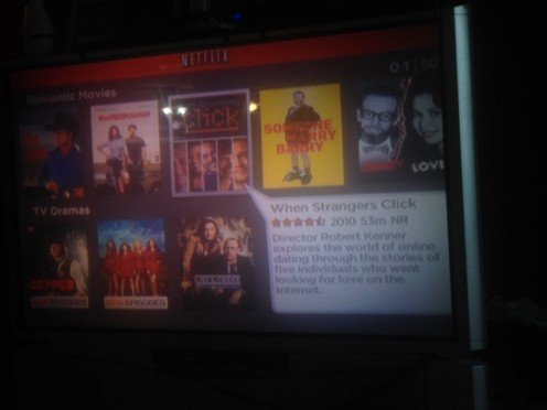 Here is how it looks on your TV when searching for movies.