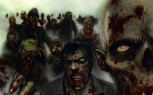 Great Piece of Zombie Artwork - Perfect for Representing ''Zombie Century''