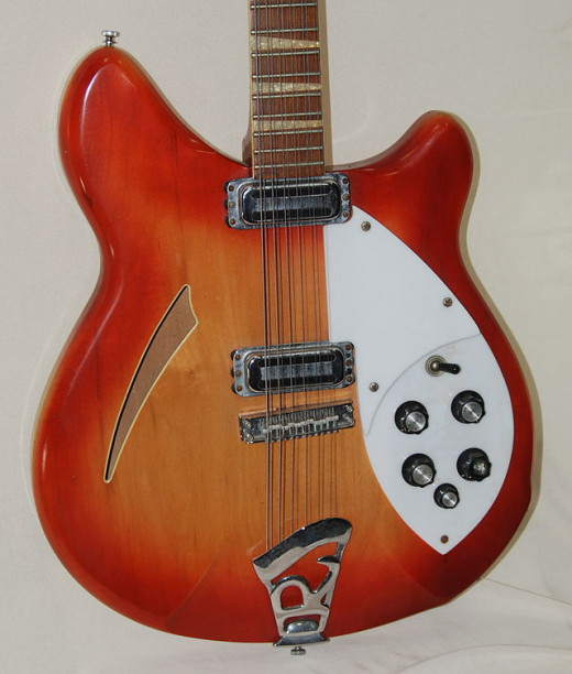 A 1967 Rickenbacker 360-12 12 string electric guitar owned and photographed by Greg Field
