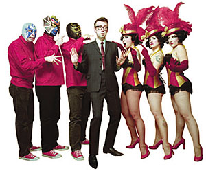 Los Straitjackets, Kaiser George (guest vocalist) & the World Famous Pontani Sisters: