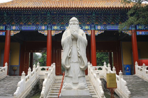 Confucius Temple. Confucius Contributed His Wisdom To The I Ching