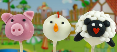 Farm animal cake pops.