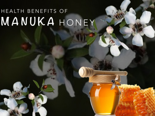 Heath Benefits of Manuka Honey: Manuka honey has both anti-fungal and antibacterial qualities that have been proven to heal the body of skin ailments, digestive issues and infection. Also identified as an antioxidant and anti-inflammatory.