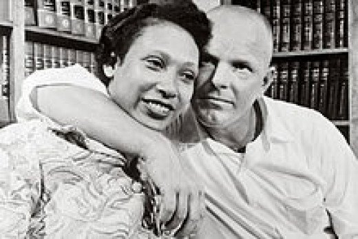 Loving and Virginia in 1967. A landmark civil case for Mixed marriages in the USA and the world.