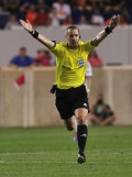 American Mark Geiger Was in Brazil's World Cup of Futbol/Soccer Without Wearing Red, White and Blue - and Russia's Too