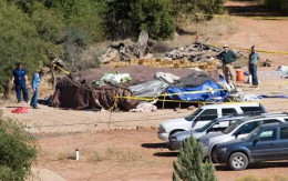 The scene at the Angel Valley retreat in Arizona where three people died in a so-called sweat ceremony in October of 2009.