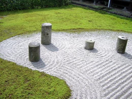 A Japanese rock garden, representing simplicity.
