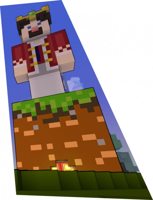 This is a king in Minecraft.