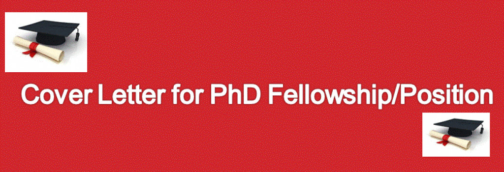 Winning Cover Letter For A PhD Fellowship Position