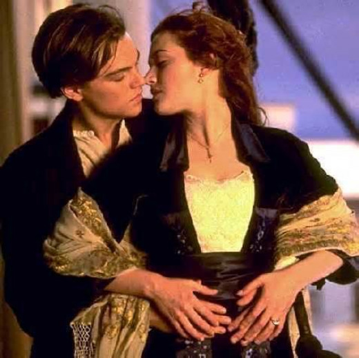 Rose and Jack on the Titanic
