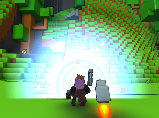 Shooting the power up shot in Trove from the GunSlinger Class.