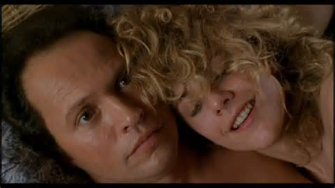 "Sally and Harry in ""When Harry Met Sally"""