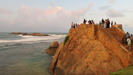 A part of the Galle Fort (ramparts). This is where the Galle Lighthouse was, in 1852.