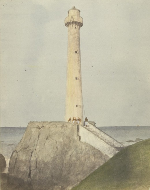 Galle Lighthouse in 1852 (Picture courtesy Frederick Fiebig).