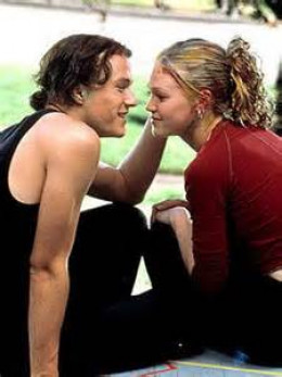 """Kat and Patrick in """"10 Things I Hate About You"""""""