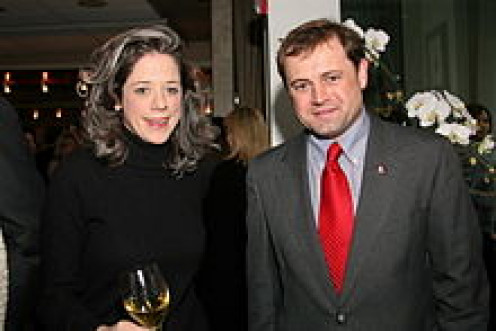 Connections count: Congressman Tom Perriello with lobbyist Heather Podesta at an inauguration party for Barack Obama.